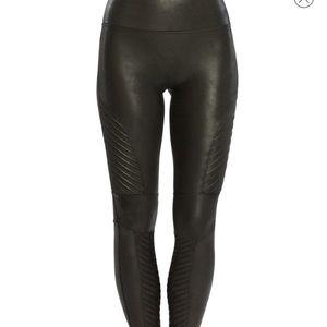 Spandx Leather Moto Legging